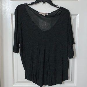 Loose casual 3/4 quarter sleeve shirt